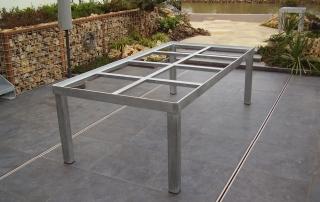 Thermisch verzinkt stalen tuintafel frame