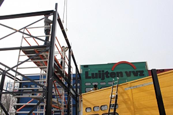 Bedrijfshal - Dordrecht: Staalconstructie t.b.v. uitbreiding bedrijfshal Luyten-VVZ Dordrecht
