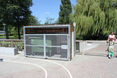 Constructie Containerberging - Dordrecht: Kennedy School